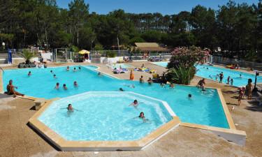 Poolområdet på Camping Le Saint Martin