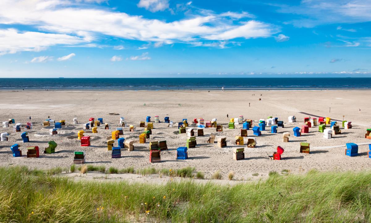 Niedersachsen - Strandhytter ved Vadehavet