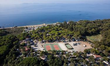 Camping ved én af Frankrigs bedste strande