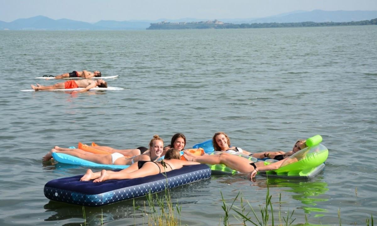 Afslapning på søen