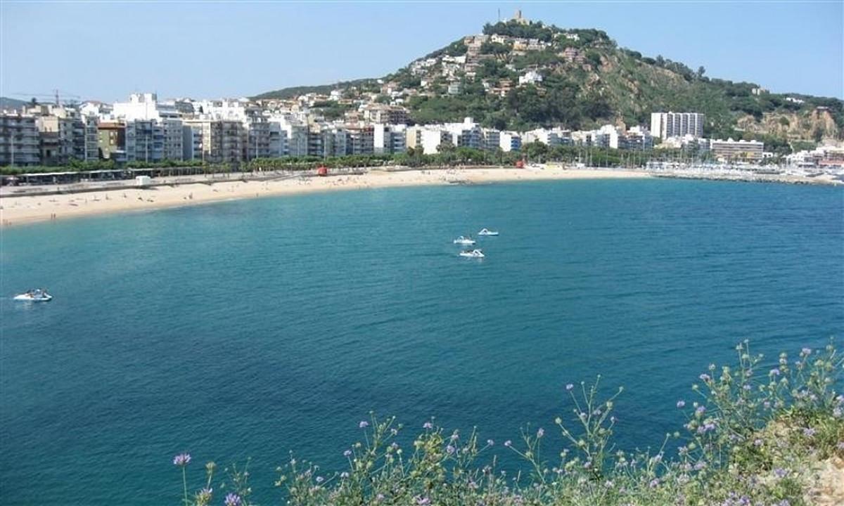 Costa Brava kysten ved feriestedet