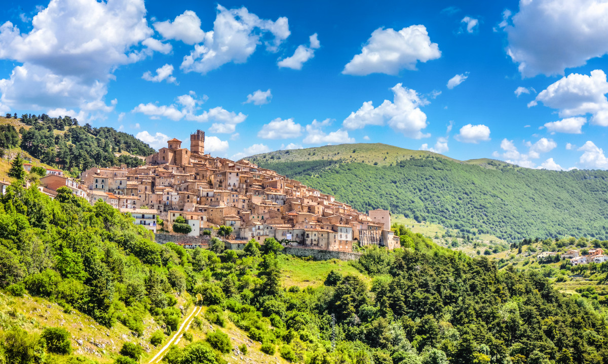 L'Aquila i Abruzzo, Italien