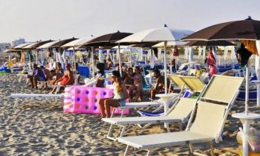 Strand Camping Marepineta Paestum in Kampanien