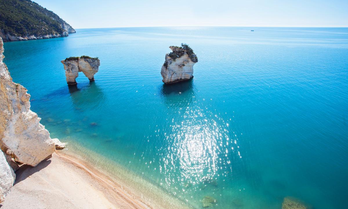 Adriaterhavskysten - Klipper i det azurblå vand