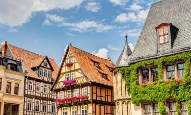 Bindingsværkhuse i Quedlinburg i Harzen