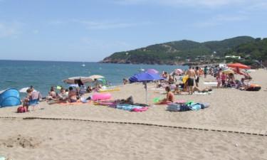 Tæt på strand