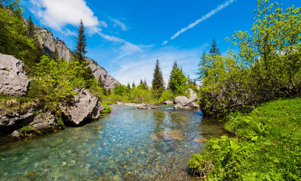 De Franske Alper - Bjerge og grøn natur