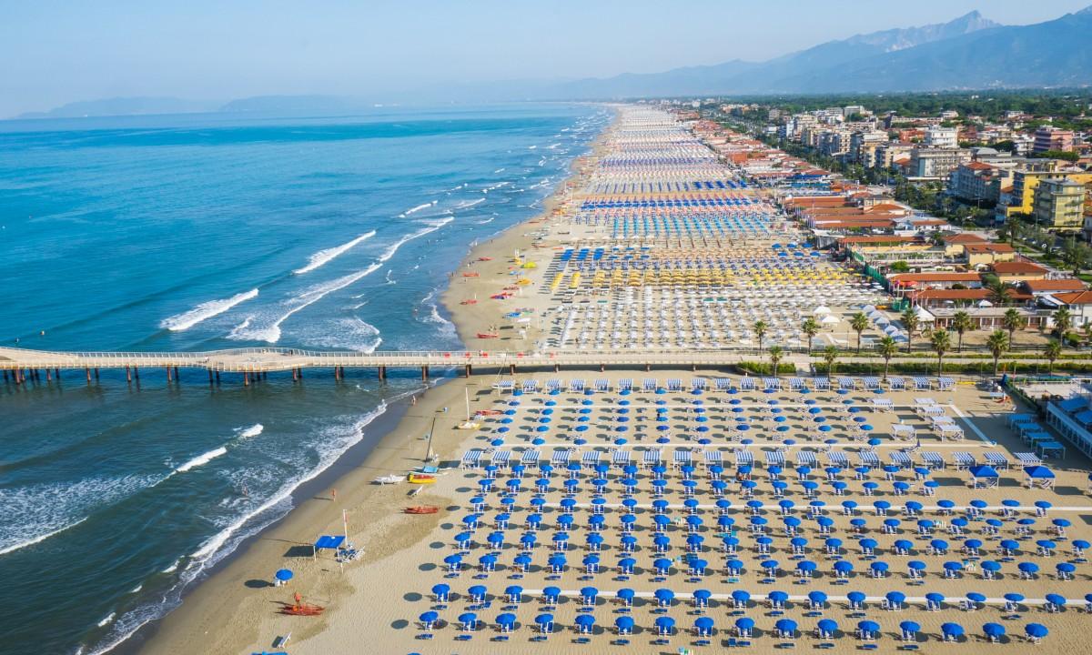 Strand i Toscana, Italien