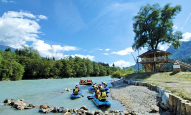 Fluss Camping Fliegercamp Greifenburg in Kärnten