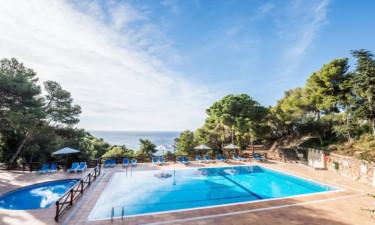 Pool Camping Cala Llevado an der Costa Brava