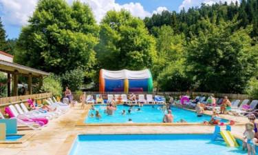 Camping Le Vaubarlet in der Auvergne