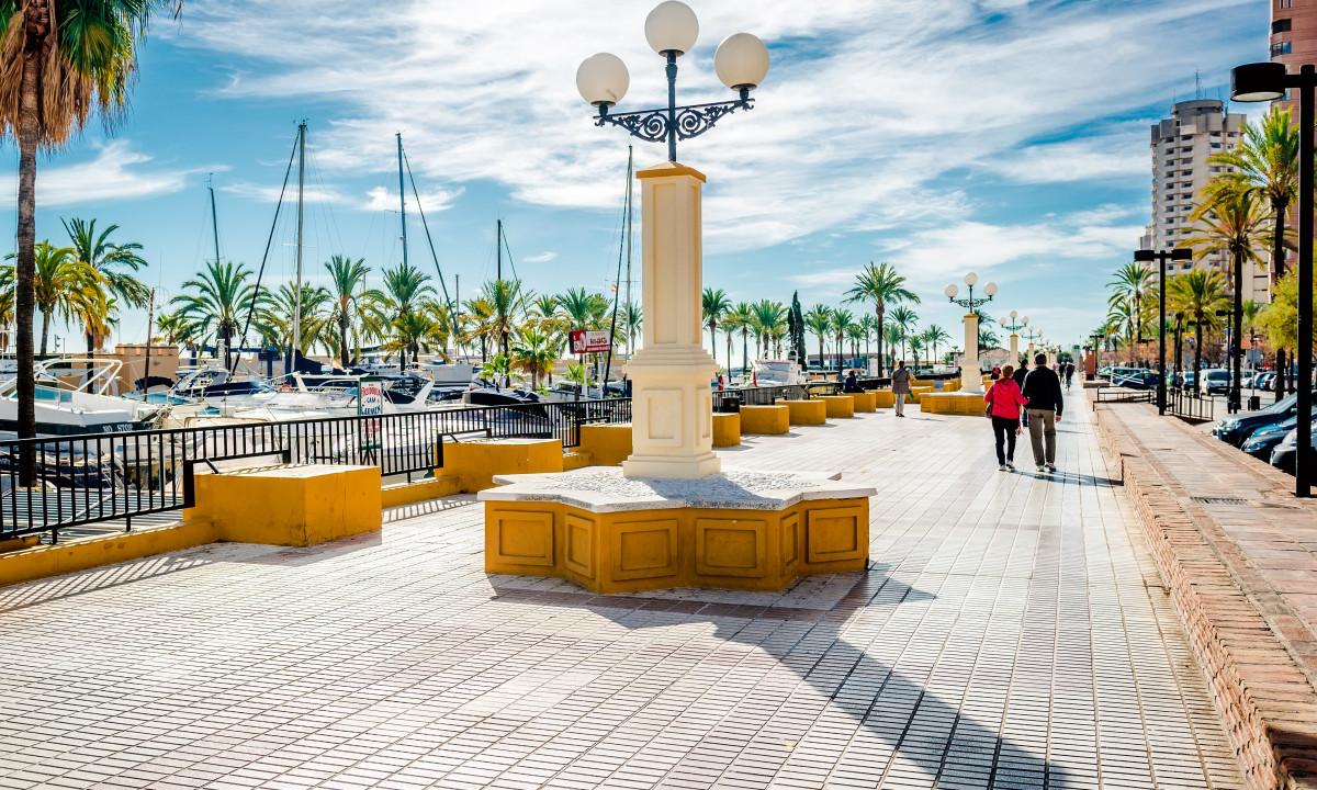 Fuengirolas strandpromenade