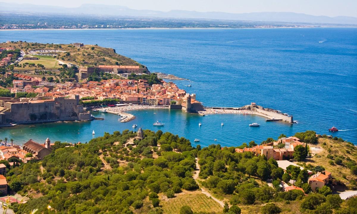 Udsigt over Languedocs kyst
