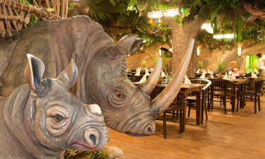 Junglerestaurant i Weissenhaüser Strand
