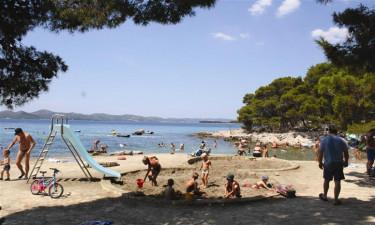 Stranden ved Camping Kozarica