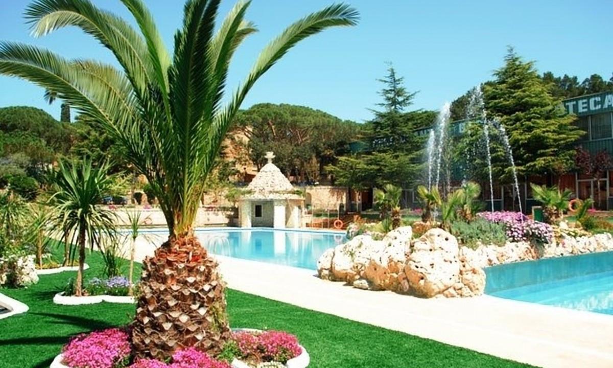 Grønt poolområde