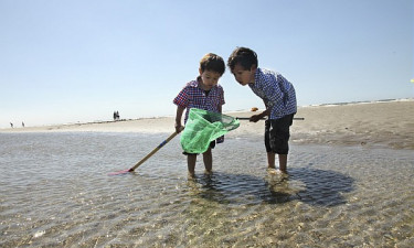 Zandvoort - Børn leger på stranden
