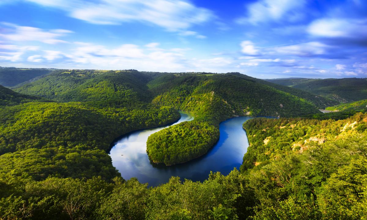 Naturen i Auvegne i Frankrig