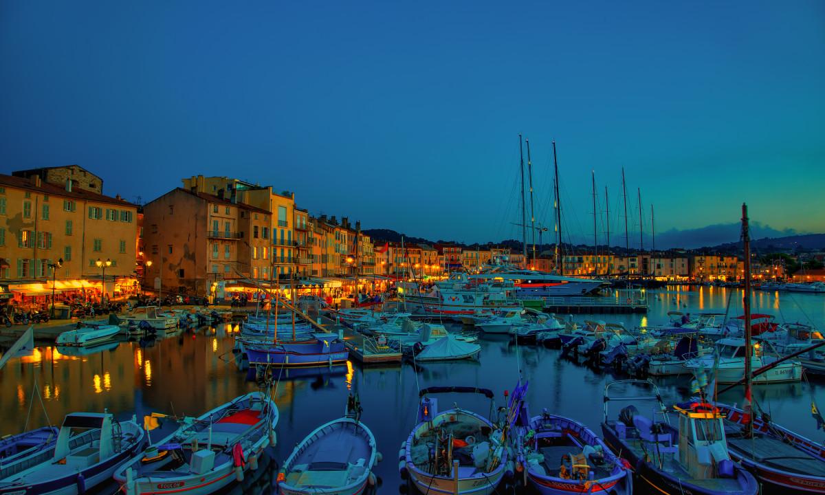 Havnen i Saint Tropez