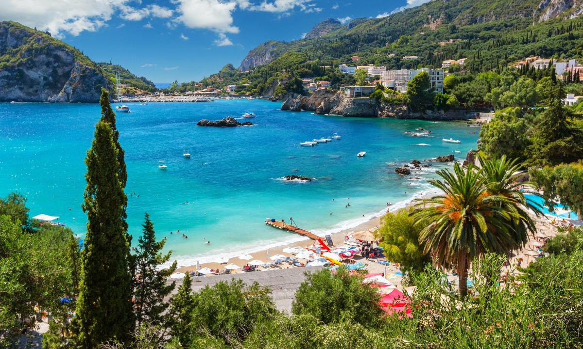 Strand ved Korfu