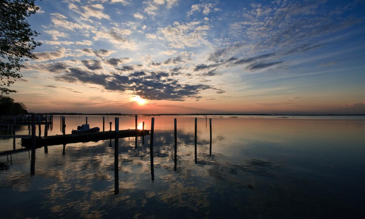 Bibione - Lagoon i Bibone ved solnedgang