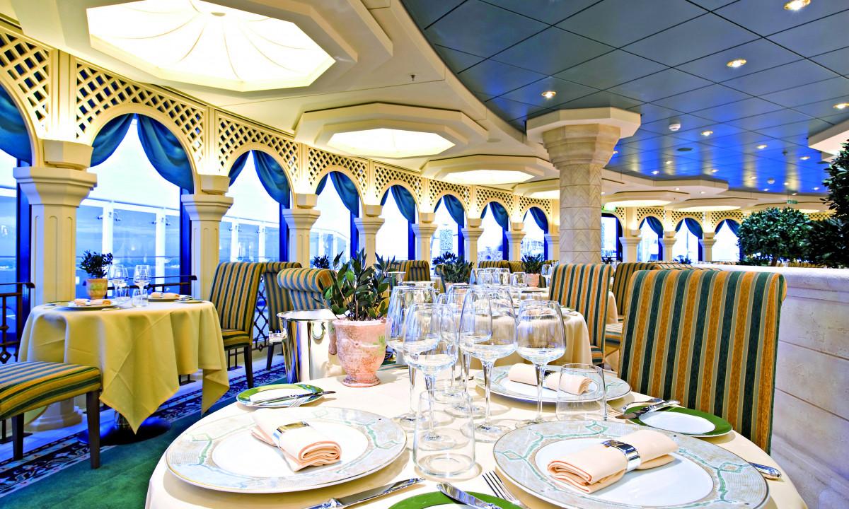 Restaurant på MSC Splendida