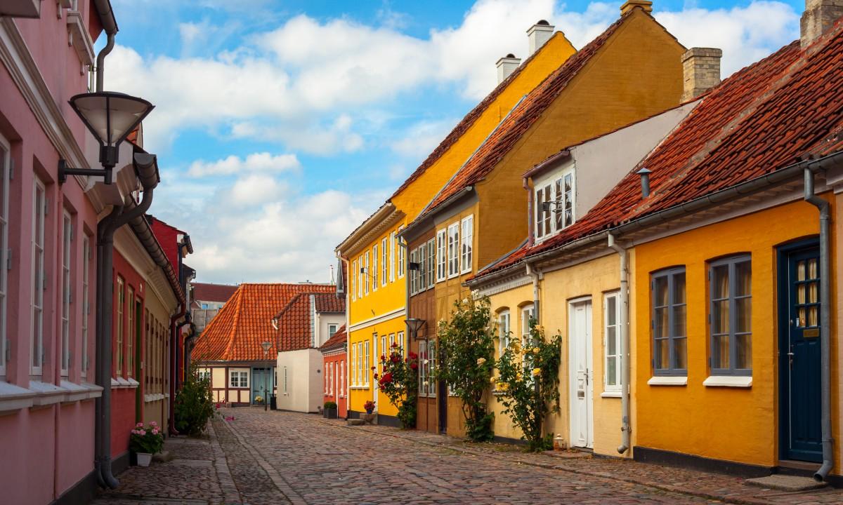 Gaderne i Odense i Danmark