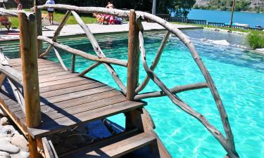 Smukt og anderledes poolområde