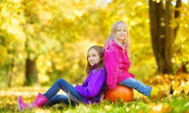 Børn med græskar