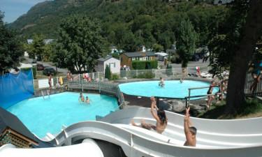 Campingpladsens poolområde