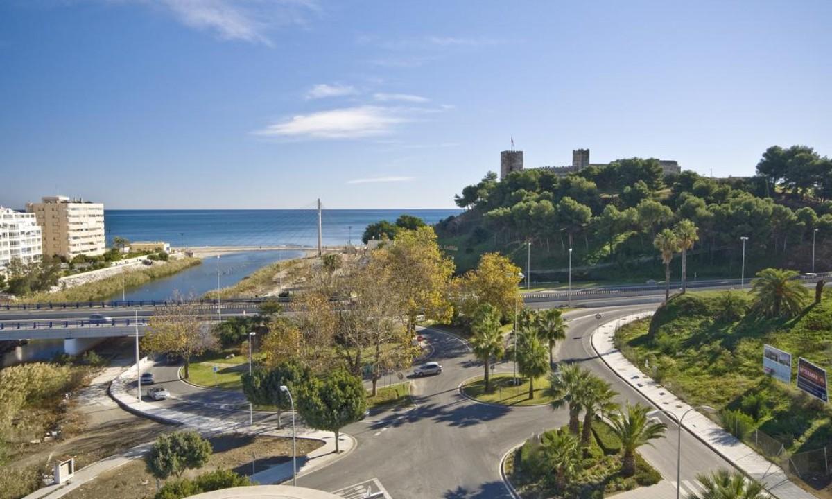Luftfoto af Costa del Sol i Spanien