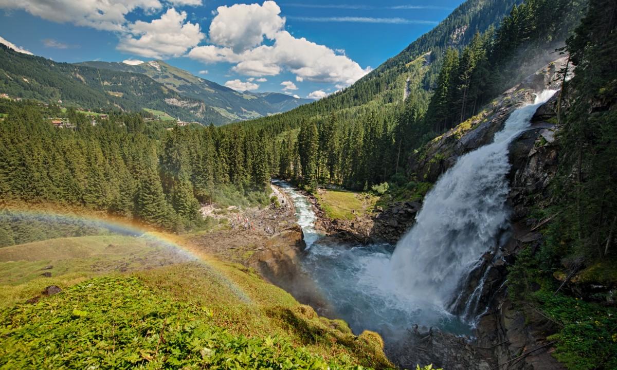 Krimmler vandfald i Hohe Tauern Nationalpark