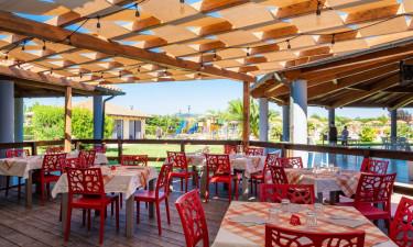 Restaurant Camping Villaggio Mare Verde in der Toskana