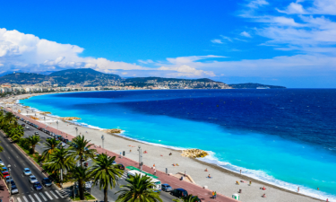 Strand Camping La Baie des Anges an der Côte d'Azur