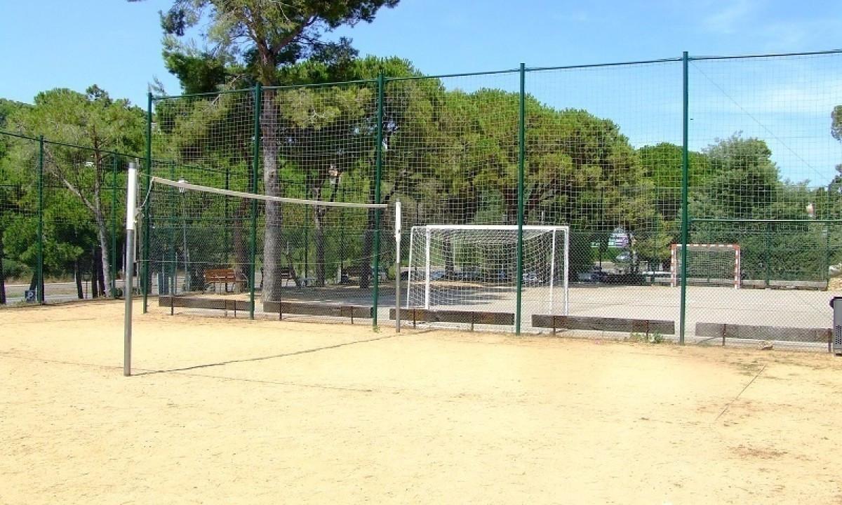 Sportsbanerne på feriestedet