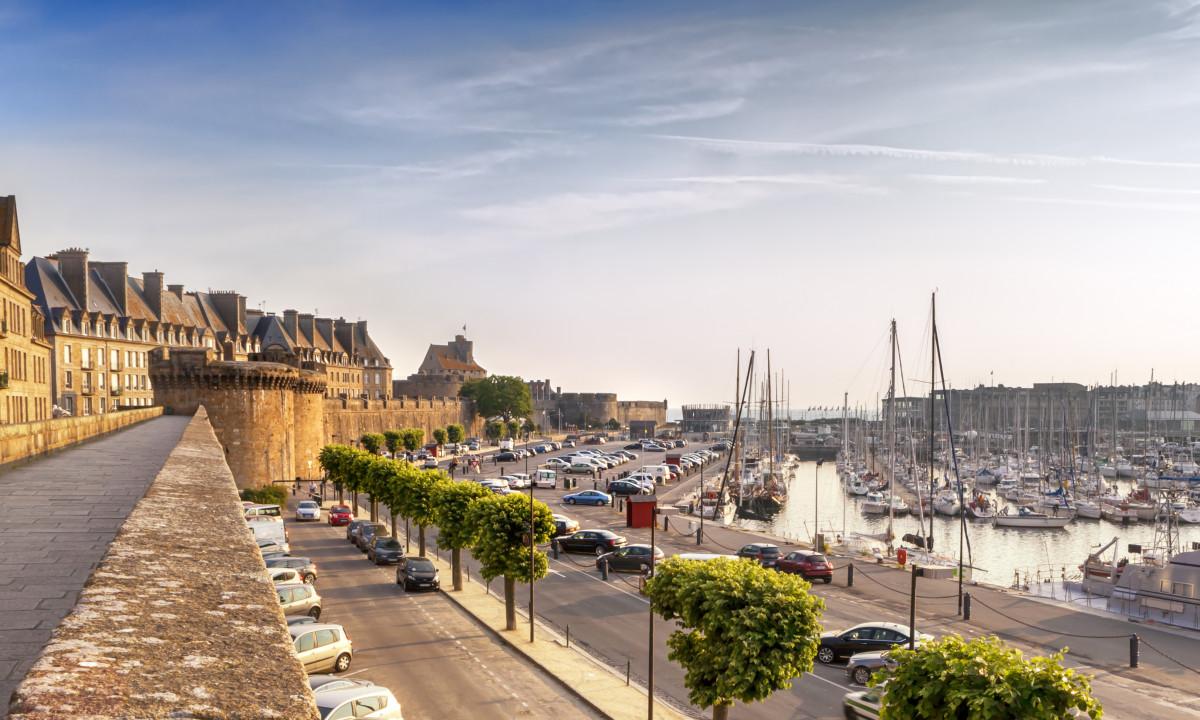 Havnebyen Saint Malo i Bretagne