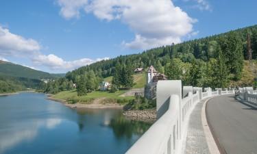 Tjekkiet - Floden Elben i byen Spindleruv Mlyn