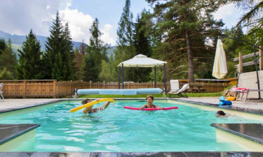 Pool Camping Fiemme Village im Trentino