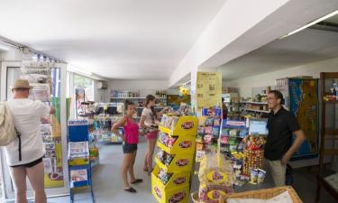 Restaurant, Bars und Einkauf auf Camping Les Cigales