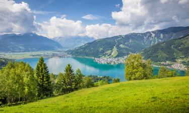 Salzburgerland - Byen Zell am See og udsigt over søen