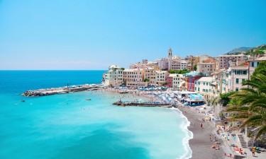 Strand i Genova ved den italienske riviera