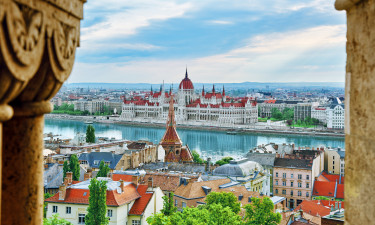 Donaufloden og parlamentet i Budapest