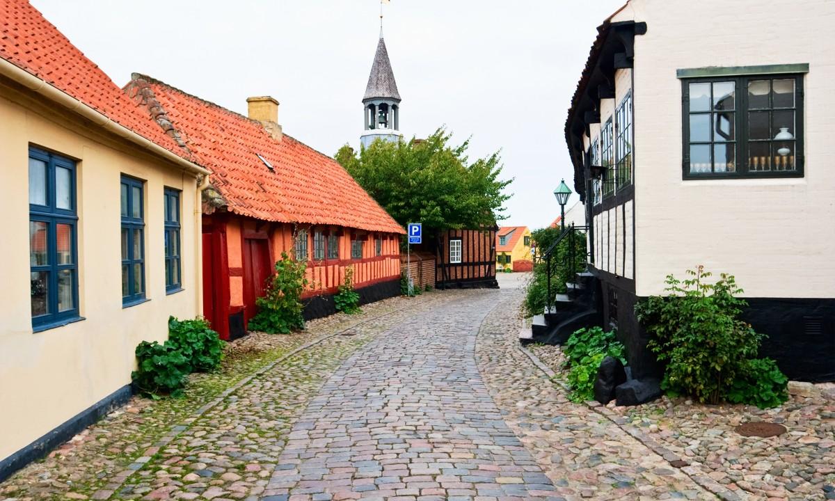 Gade i Ebeltoft i Djursland