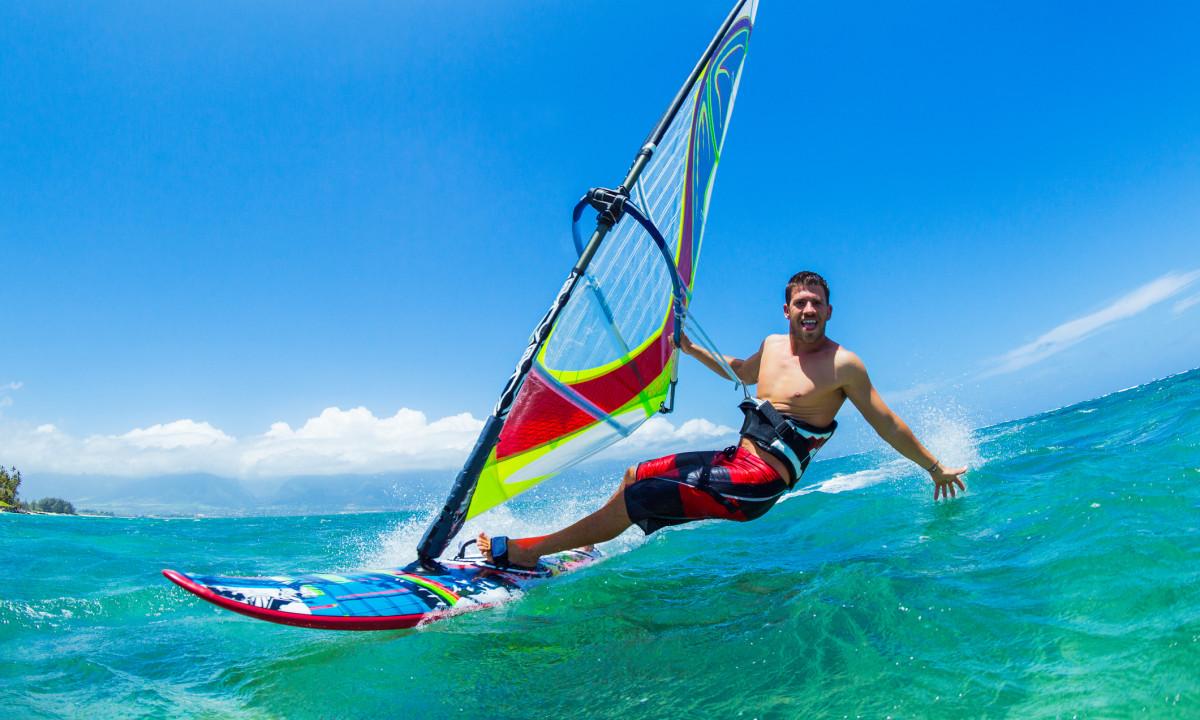 Windsurfing på Adriaterhavet
