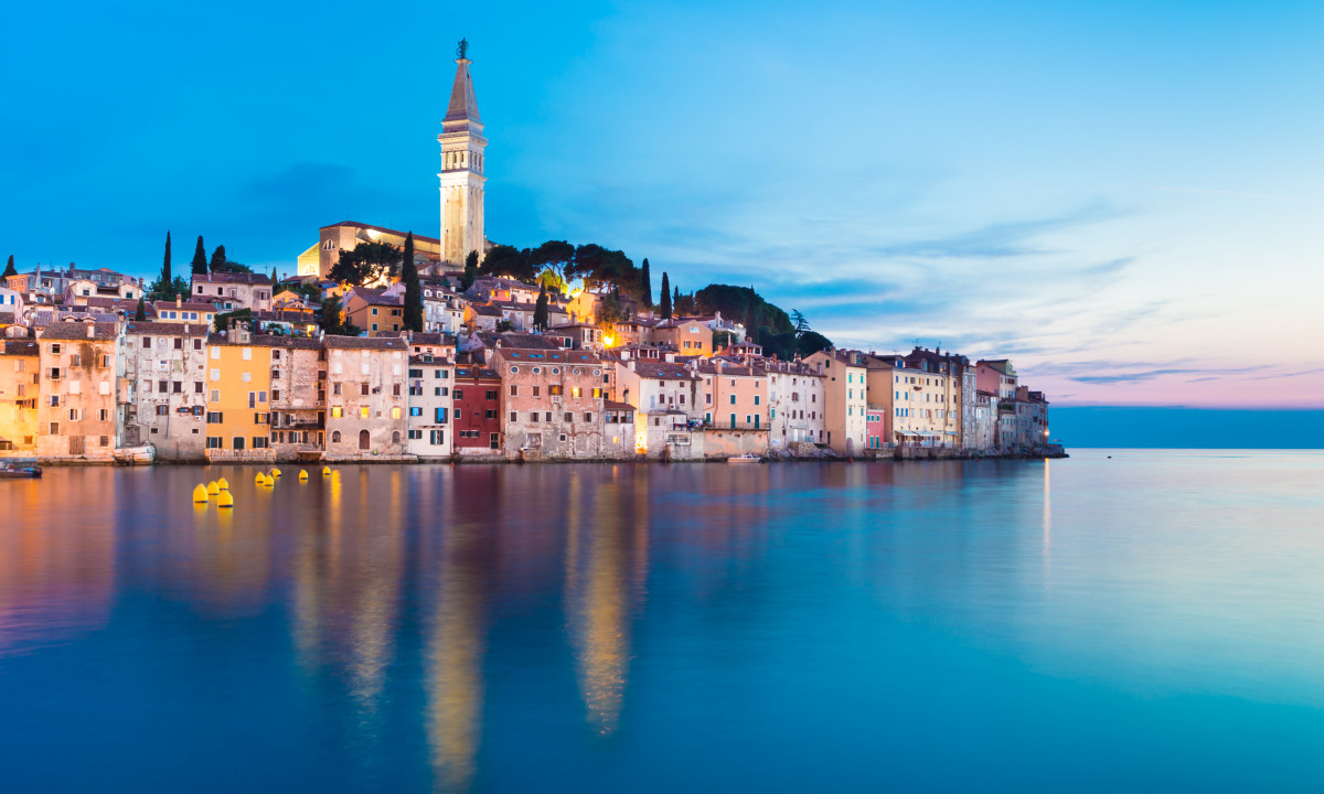 Byen Rovinj i Istrien