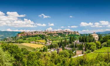 Byfoto af Orvieto i Umbrien