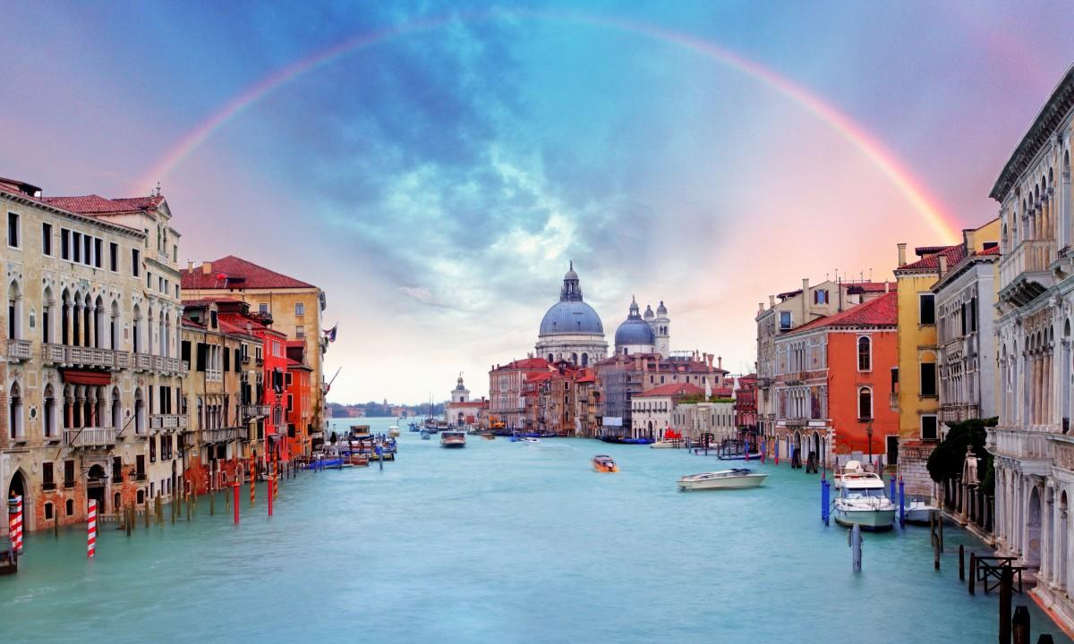 Venedig ved Adriaterhavet i Italien