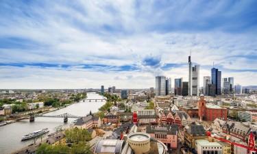 Frankfurt skyline i Hessen