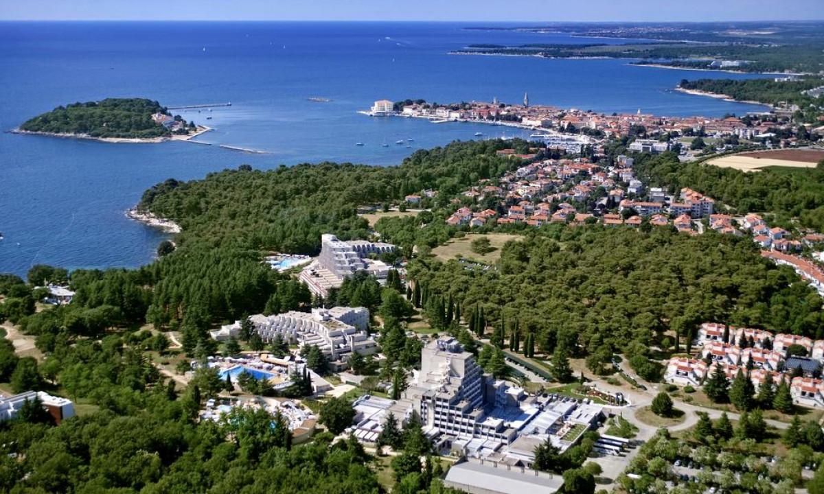 Luftfoto over Diamant og Porec i Istrien