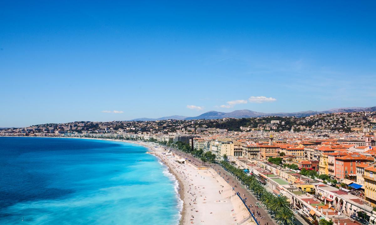 Nice i Côte d'Azur ved Den Franske Riviera